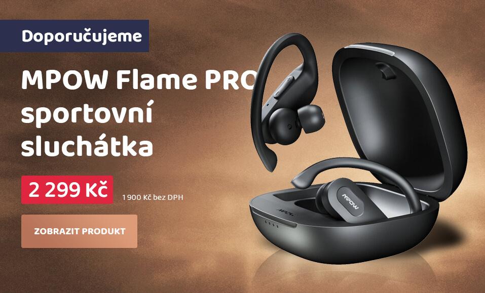 MPOW Flame PRO - sportovní bluetooth sluchátka