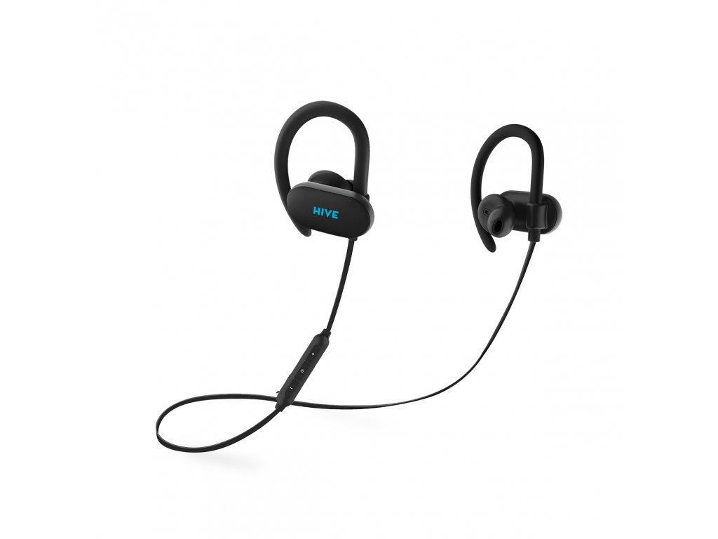 Niceboy HIVE sport 2 bezdrátová sluchátka, černá