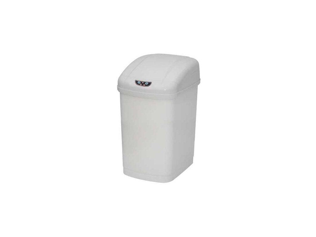 iQtech Economic bezdotykový odpadkový koš 18 l, plastový, senzorový, hranatý