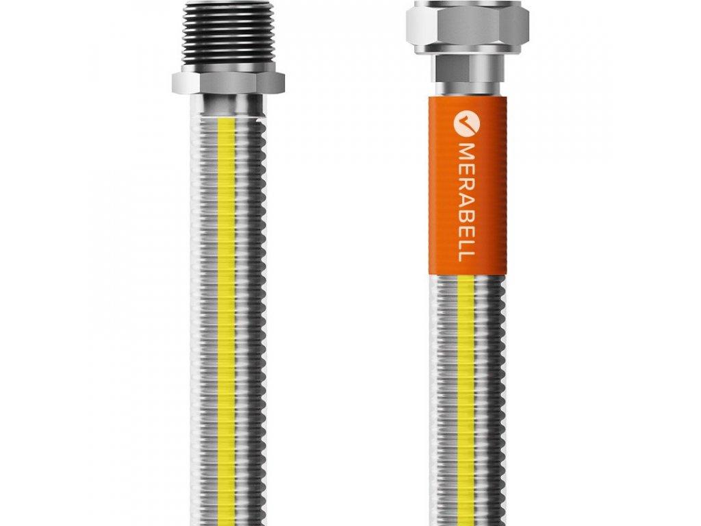 """Hadice plynová Merabell Gas Classic R1/2""""-G1/2"""" 125 cm"""