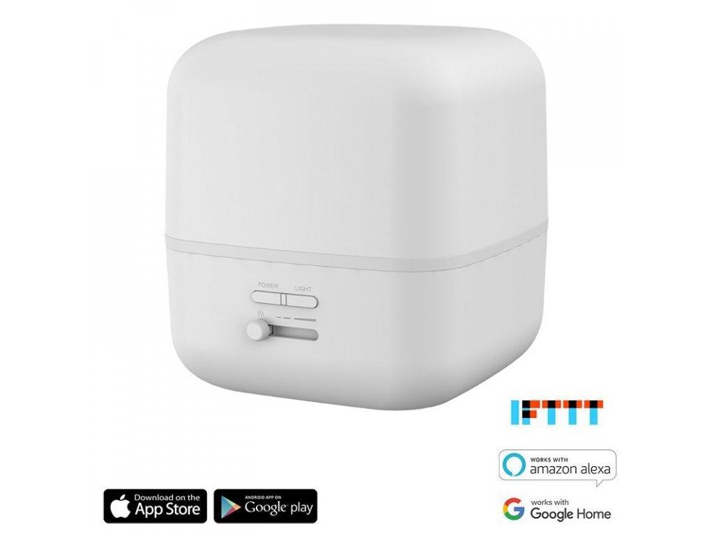 iQtech by Aromacare, Ghana SmartLife ultrazvukový aroma difuzér, bílý, 400 ml