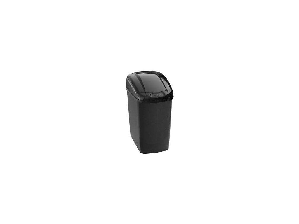 Economic bezdotykový odpadkový koš 27 l, plastový, senzorový, hranatý. Rozbalené zboží.