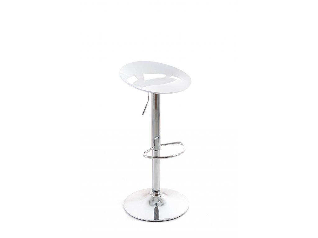 Barová židle G21 Teara plastová white