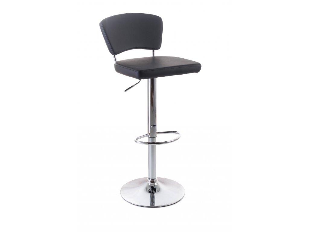 Barová židle G21 Redana koženková s opěradlem black
