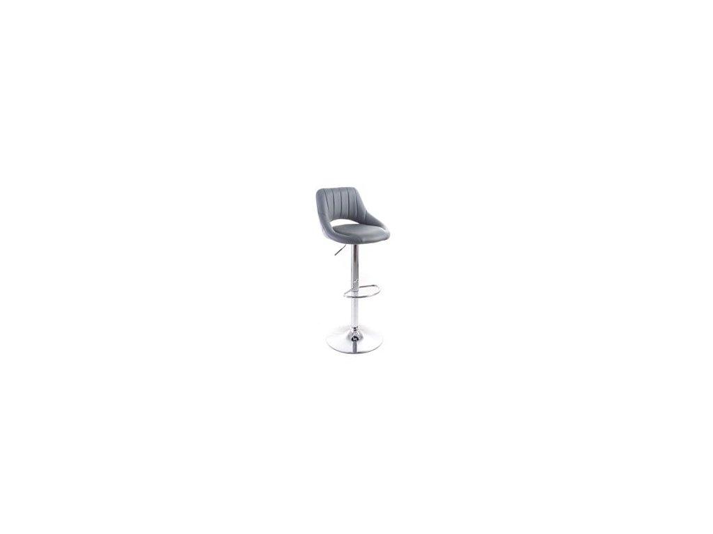 Barová židle G21 Aletra koženková, prošívaná grey