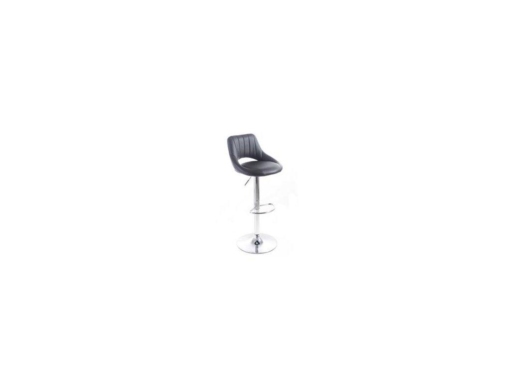 Barová židle G21 Aletra koženková, prošívaná black