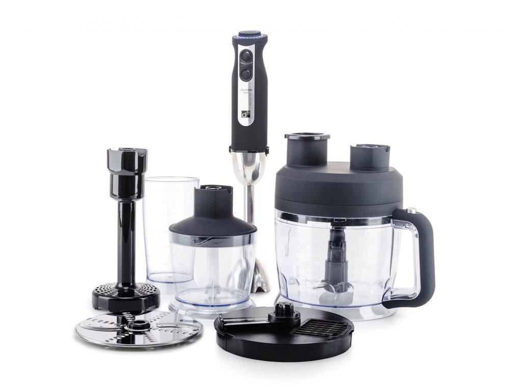 Set G21 mixér VitalStick Pro 1000 W s Food Processorem, Black