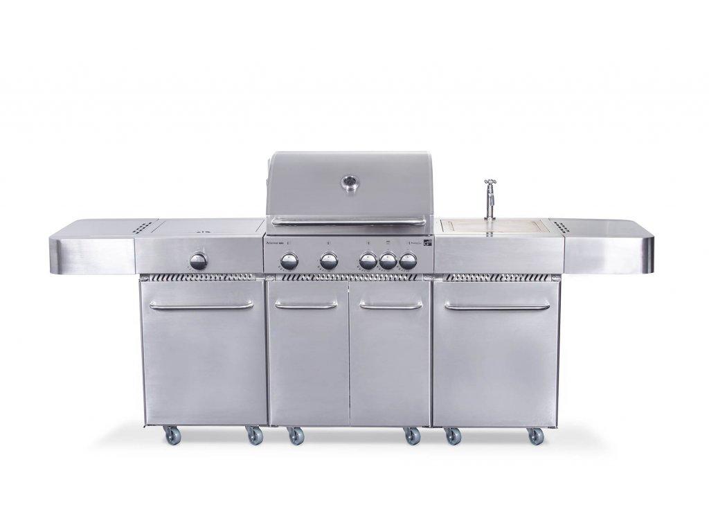 Plynový gril G21 Arizona, BBQ kuchyně Premium Line 6 hořáků + zdarma redukční ventil