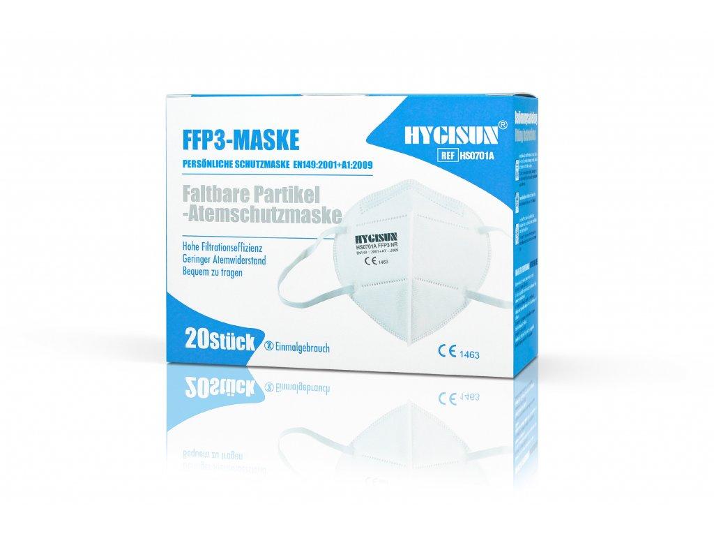 20ks respirator ffp3 hygisun skladaci bez ventilu brando