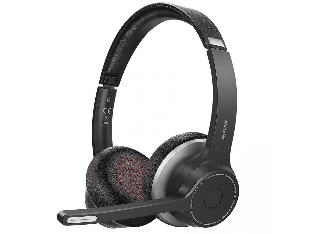 mpow hc5 business headset bezdratova sluchatka cerna brando 5