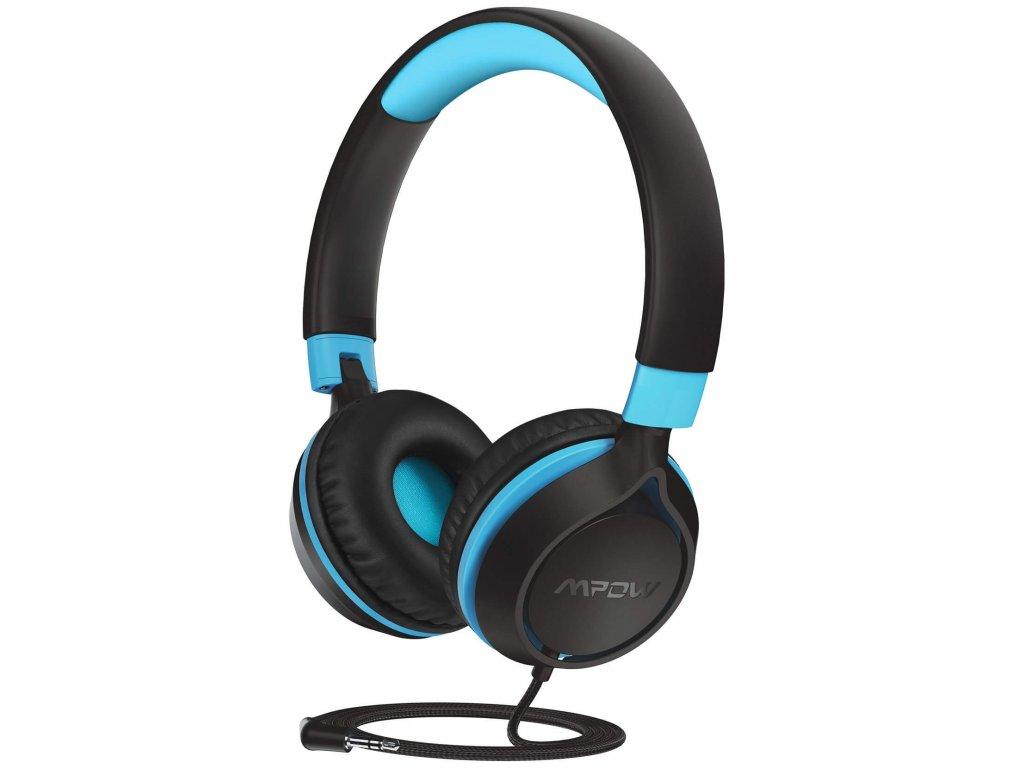 MPOW CHE1 - dětská sluchátka, modro-černá