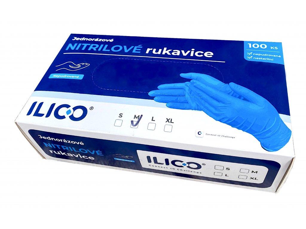 100ks nitrilove rukavice ilico brando 1