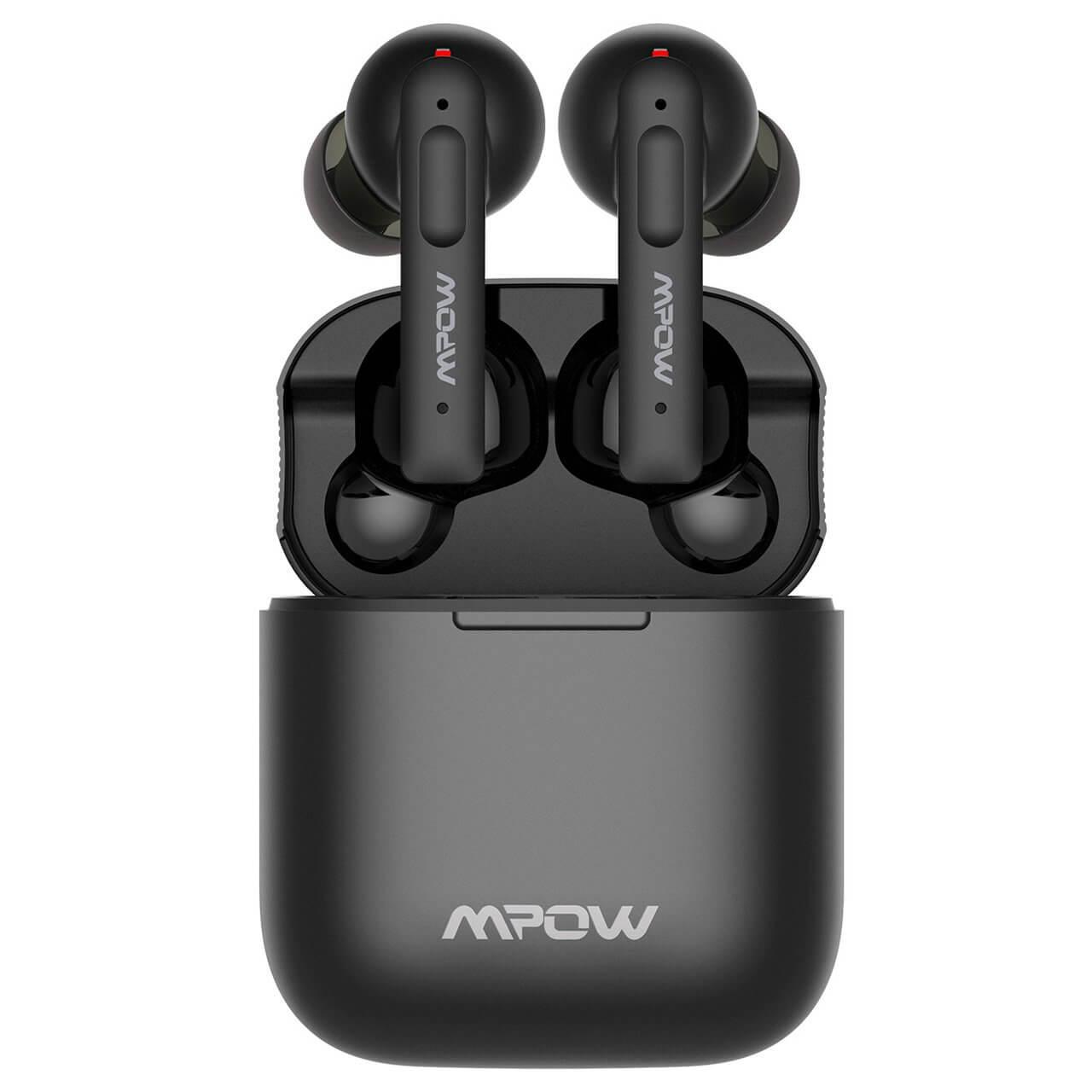 MPOW X3 ANC TWS - bezdrátová sluchátka s dobíjecím boxem - černá