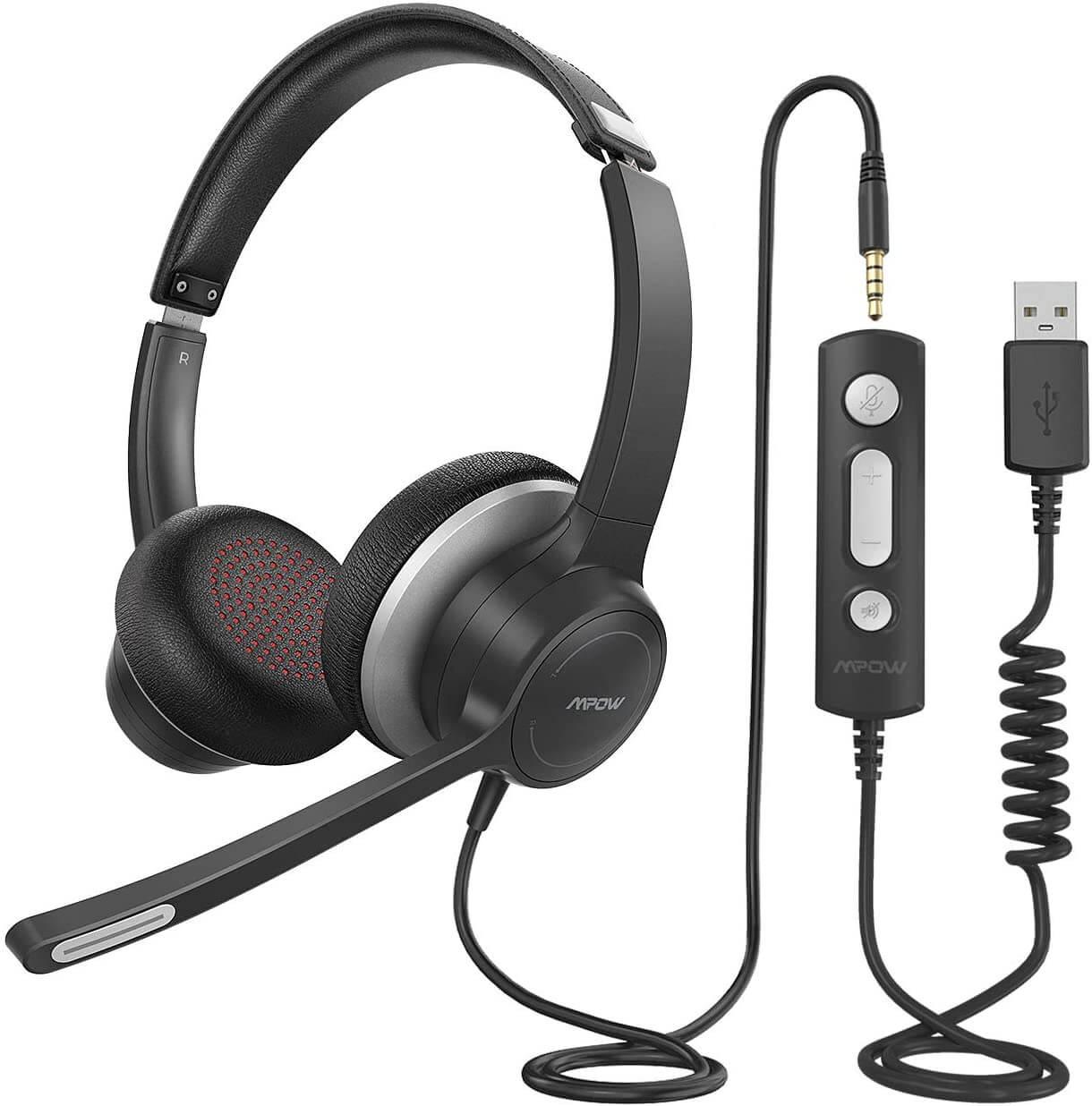 MPOW HC6 Business headset - černá