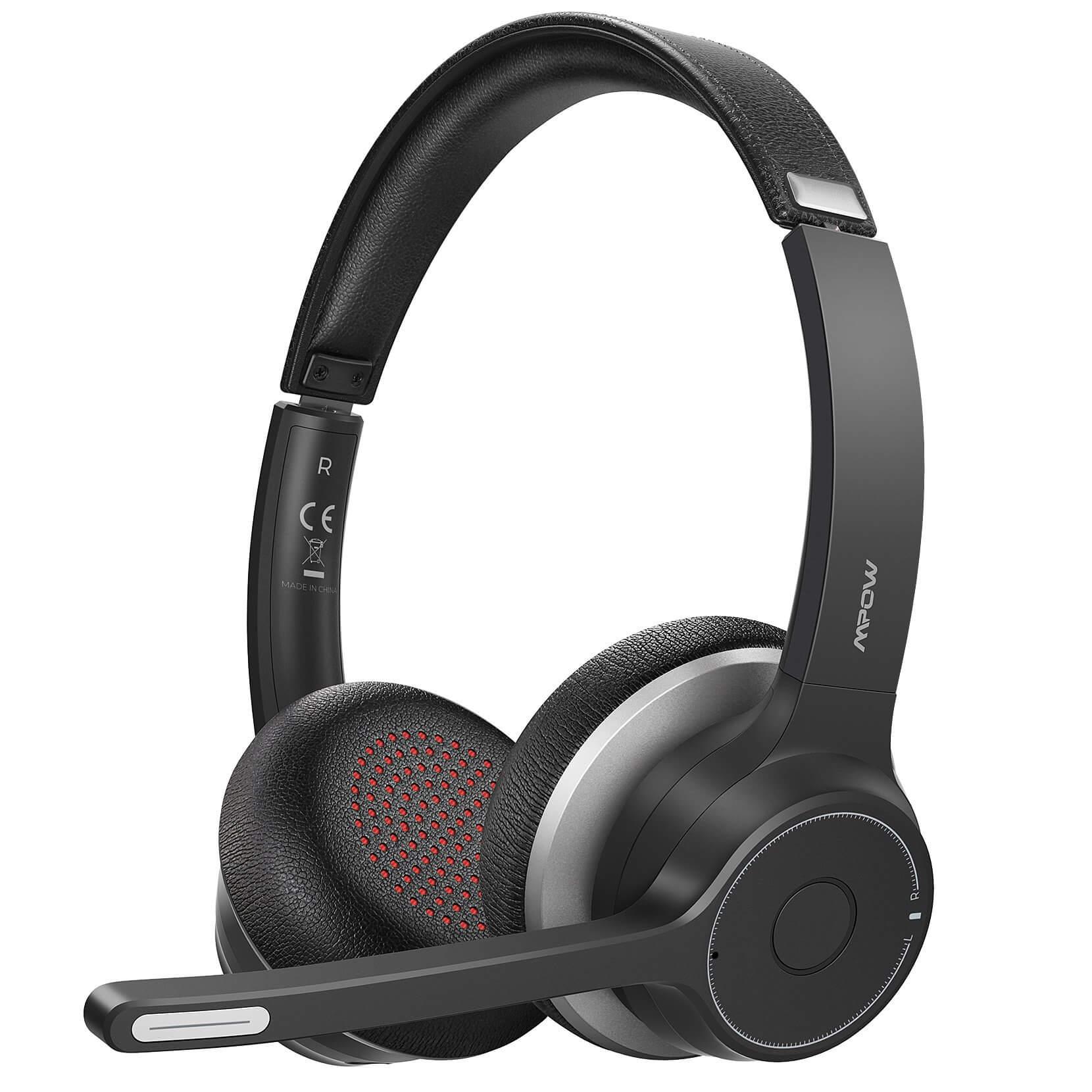 MPOW HC5 Business headset - bezdrátová sluchátka, černá