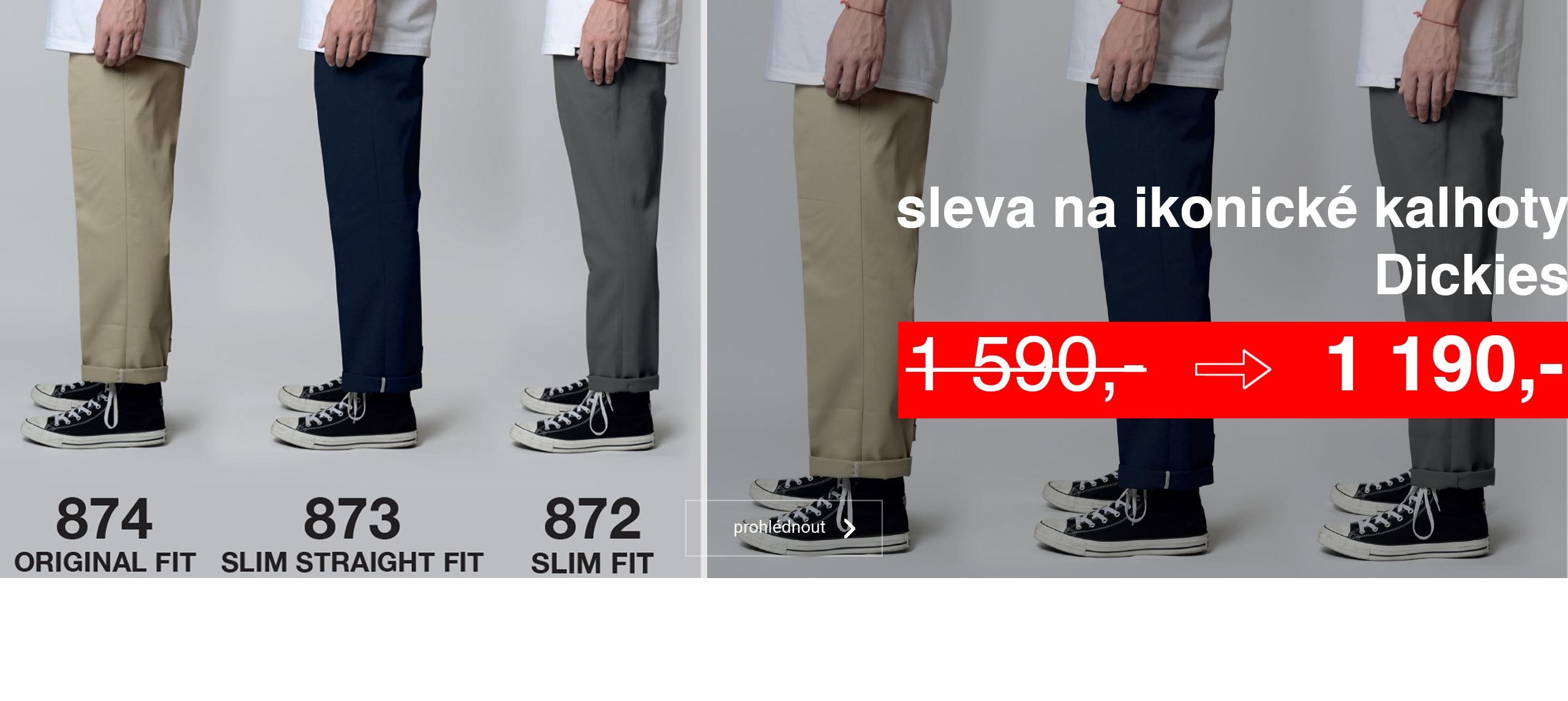 kalhoty ve slevách