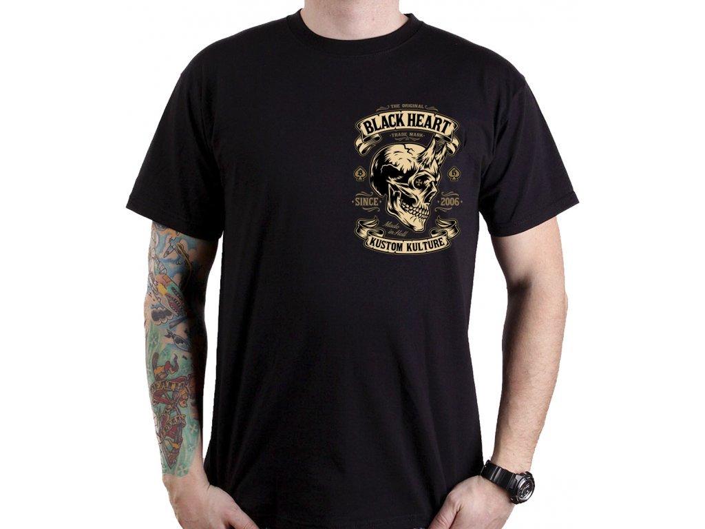 673 1 motorkarske triko black heartdevil skull