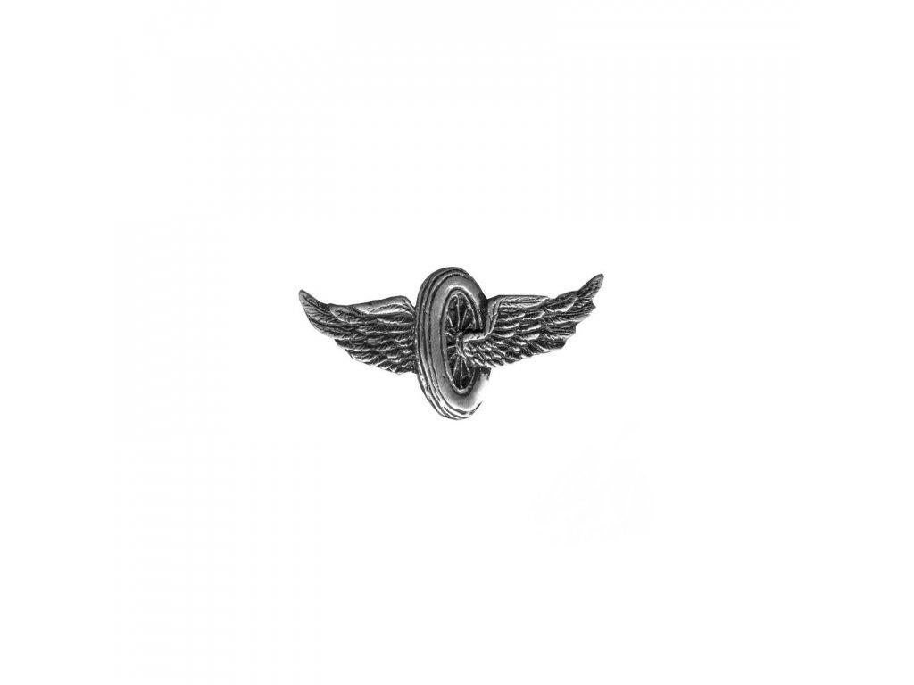 winged wheel badge pin harley jacket vest bag custom biker harley
