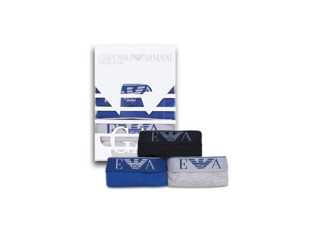 Boxerky Emporio Armani vicebarevne 3ks05