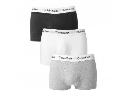 Panske boxerky Calvin Klein cerne sede bile