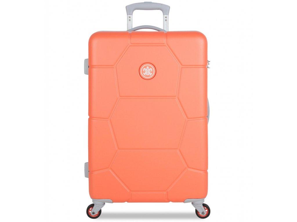 Cestovní kufr SUITSUIT® TR-1246/3-M ABS Caretta Melon  + Pouzdro zdarma
