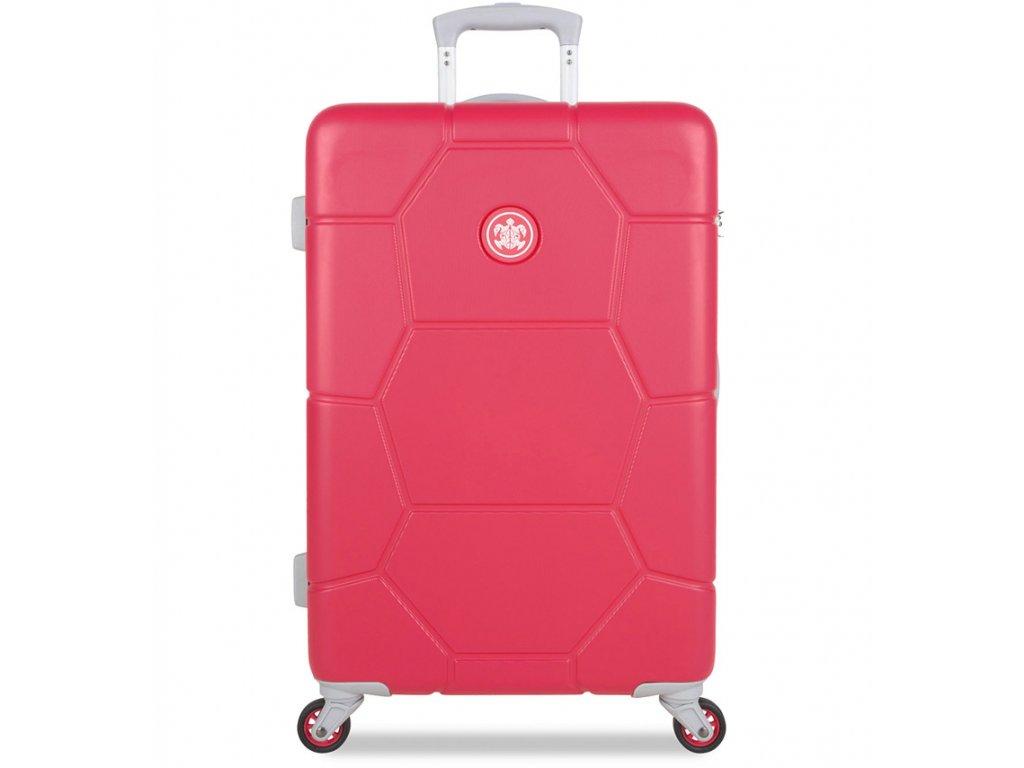 Cestovní kufr SUITSUIT® TR-1247/3-M ABS Caretta Teaberry  + Pouzdro zdarma