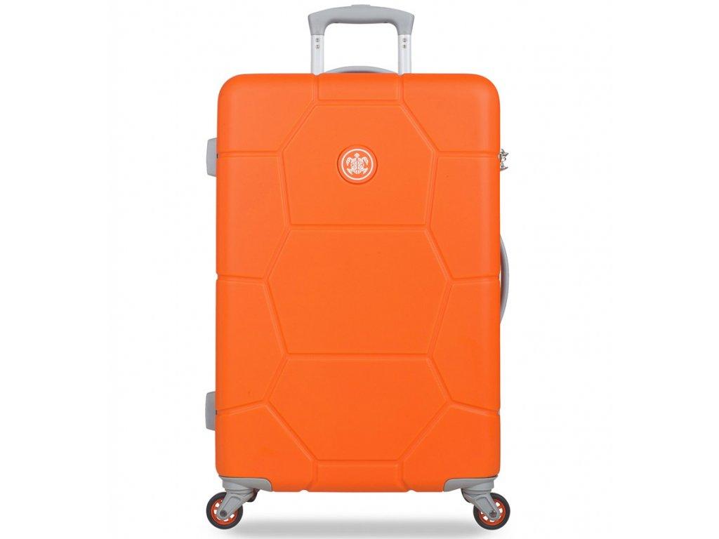 Cestovní kufr SUITSUIT® TR-1249/3-M ABS Caretta Vibrant Orange  + Pouzdro zdarma