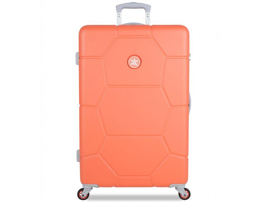 Cestovní kufr SUITSUIT® TR-1246/3-L ABS Caretta Melon  + Pouzdro zdarma