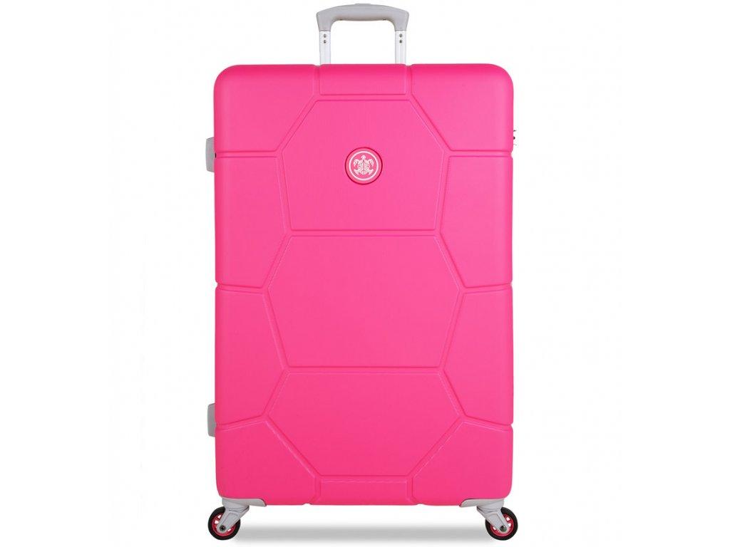 Cestovní kufr SUITSUIT® TR-1248/3-L ABS Caretta Hot Pink  + Pouzdro zdarma
