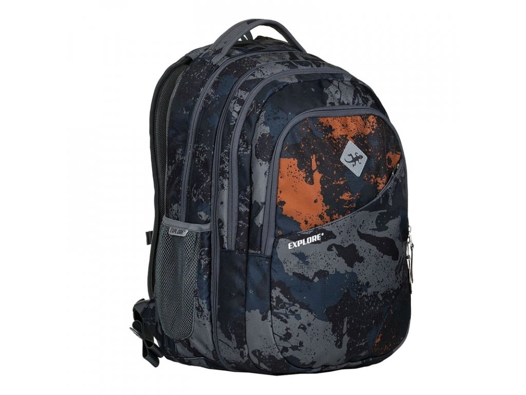 Studentský batoh 2v1 DANIEL Camouflage  + Pouzdro zdarma