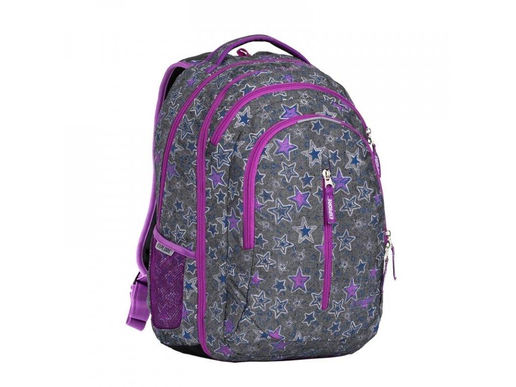 Studentský batoh 2v1 LIAN Stars  + Pouzdro zdarma + sleva 10% s kódem CERVEN10