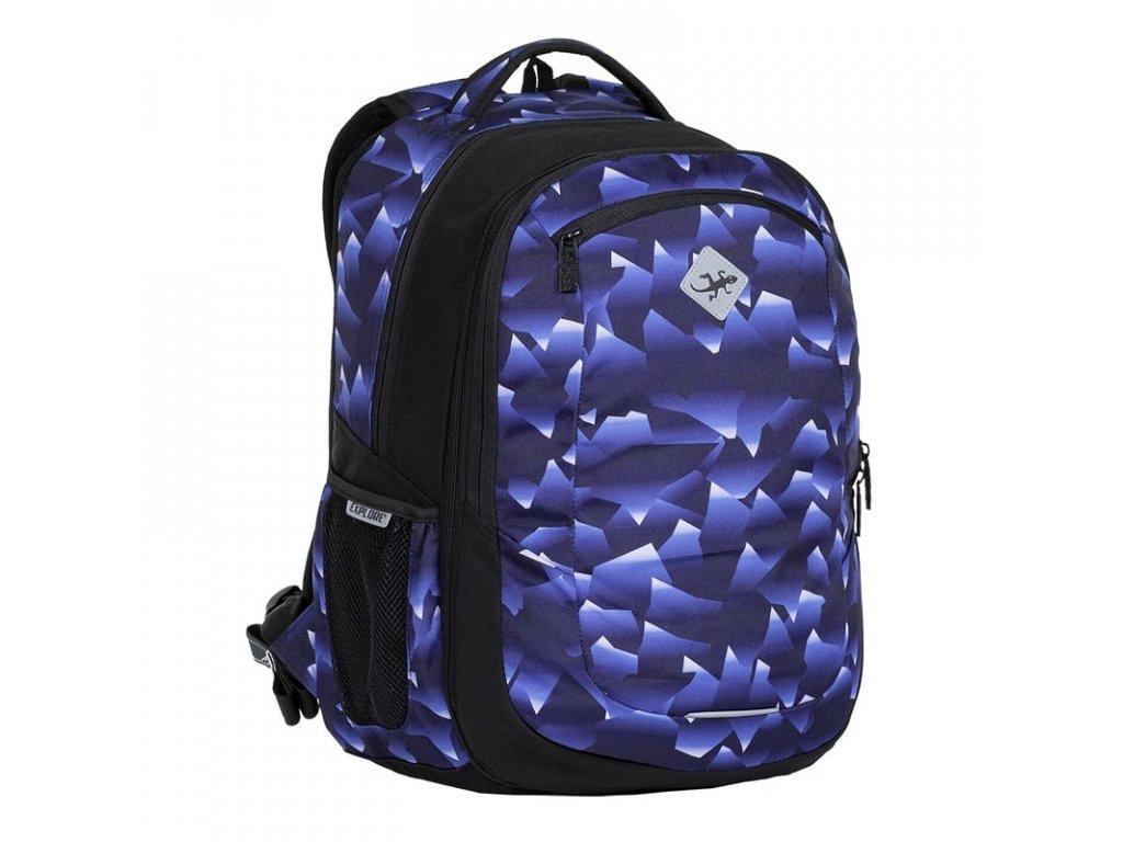Studentský batoh 2v1 VIKI Crystal blue  + Pouzdro zdarma