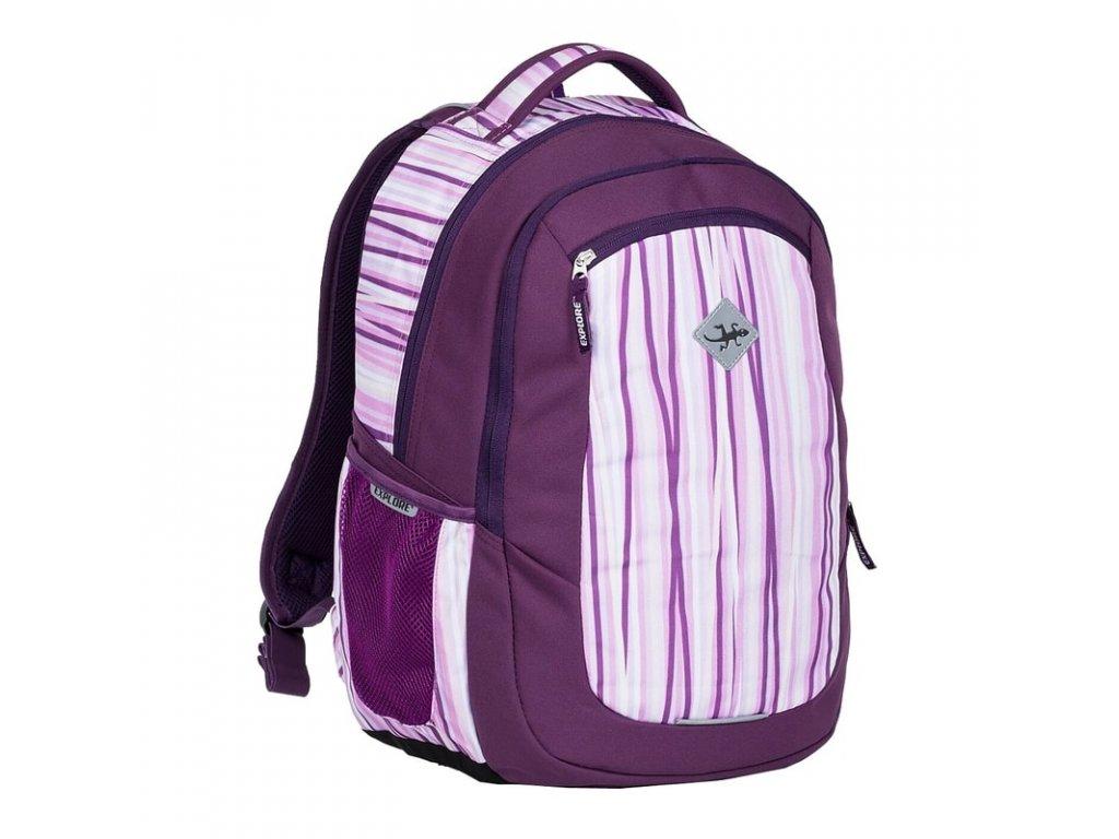 Studentský batoh 2v1 VIKI Lilla  + Pouzdro zdarma