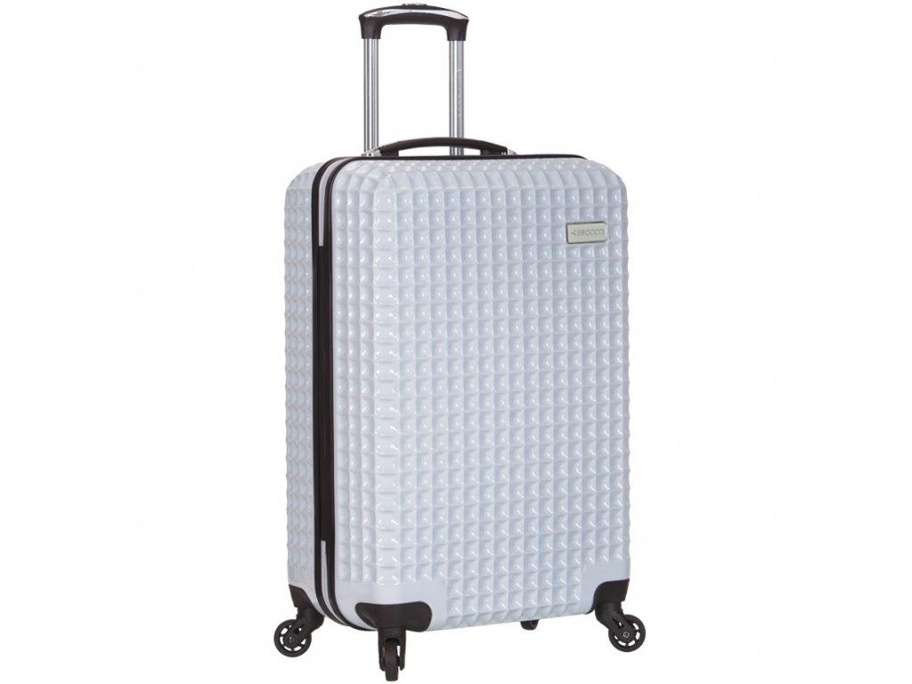 Kabinové zavazadlo SIROCCO T-1195/3-S PC - bílá  + pouzdro zdarma