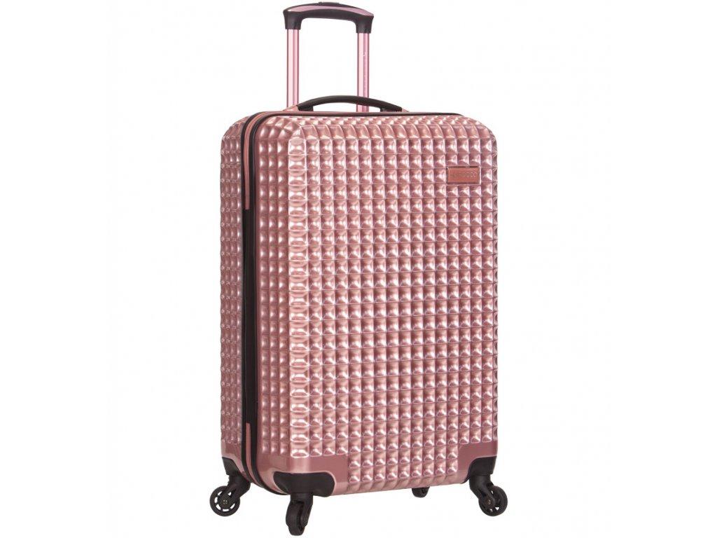 Kabinové zavazadlo SIROCCO T-1195/3-S PC - růžová  + Pouzdro zdarma