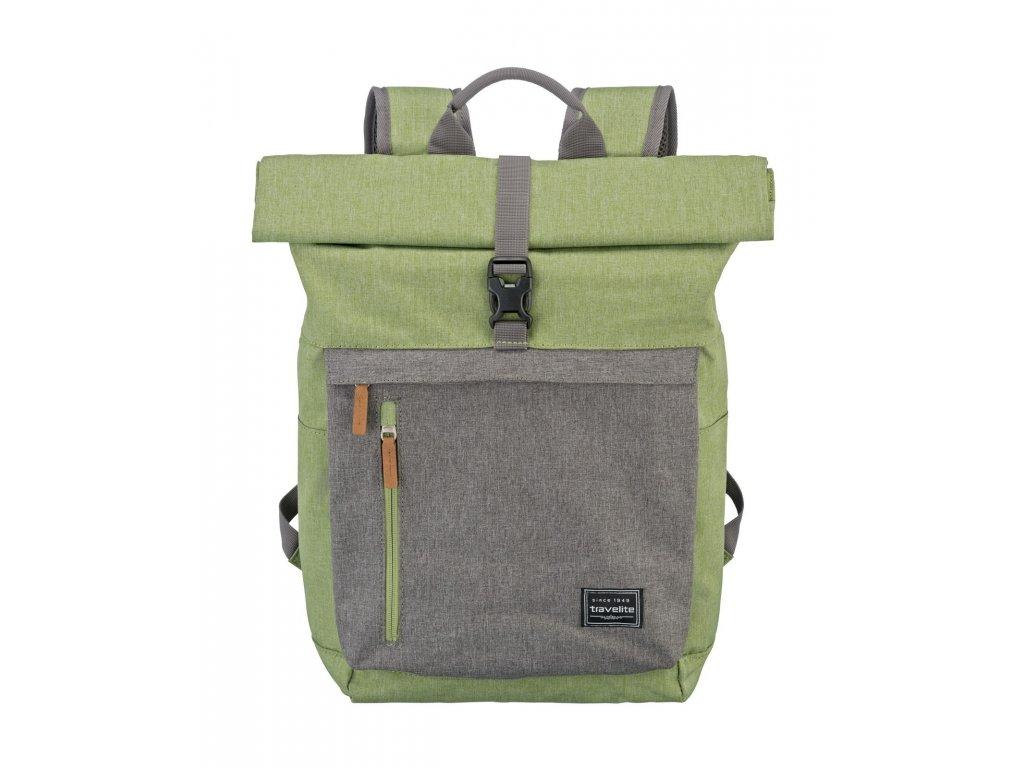 f7d5b607f3 Travelite Basics Roll-up Backpack Green Grey - Brašničky.cz