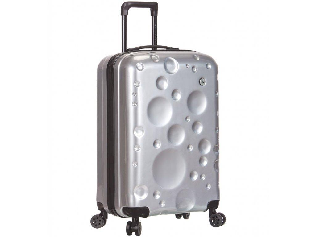 Kabinové zavazadlo SIROCCO T-1194/3-S PC - stříbrná  + Pouzdro zdarma