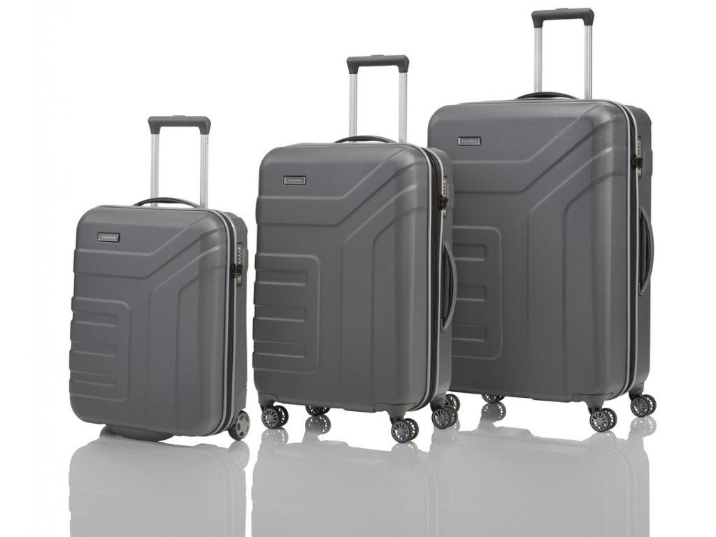 Travelite Vector 2w S, 4w M,L Anthracite – sada 3 kufrů  + Pouzdro zdarma