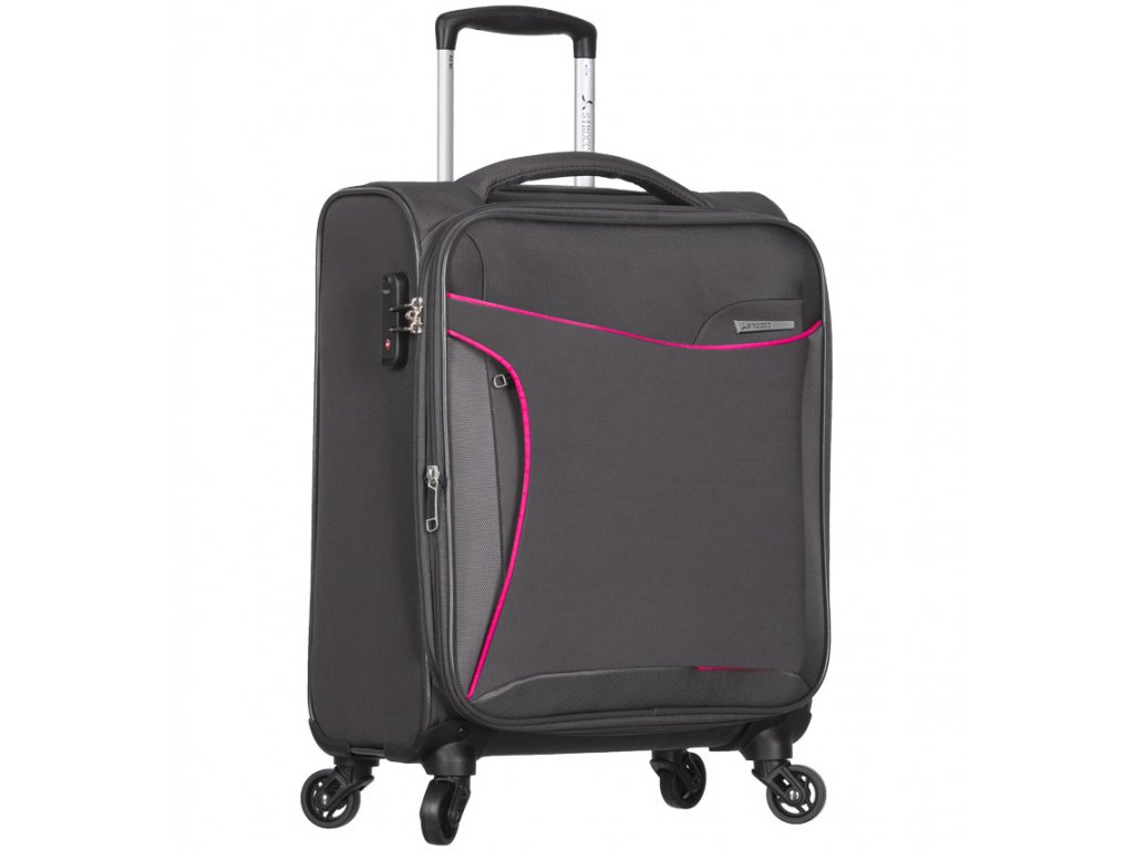 Kabinové zavazadlo SIROCCO T-1201/3-S - šedá  + Pouzdro zdarma