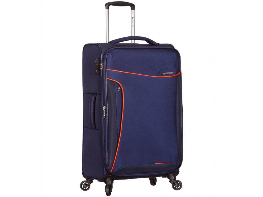 Cestovní kufr SIROCCO T-1201/3-L - modrá  + PowerBanka nebo pouzdro zdarma