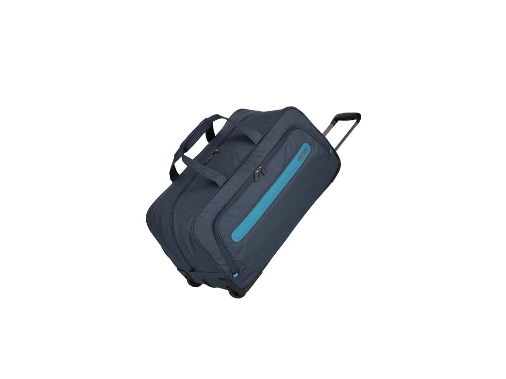 177911 travelite madeira wheeled duffle navy blue