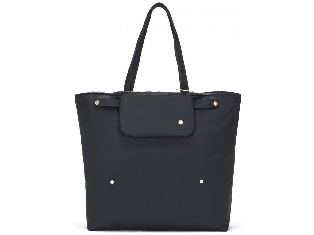 181742 pacsafe taska citysafe cx packable horizontal tote black
