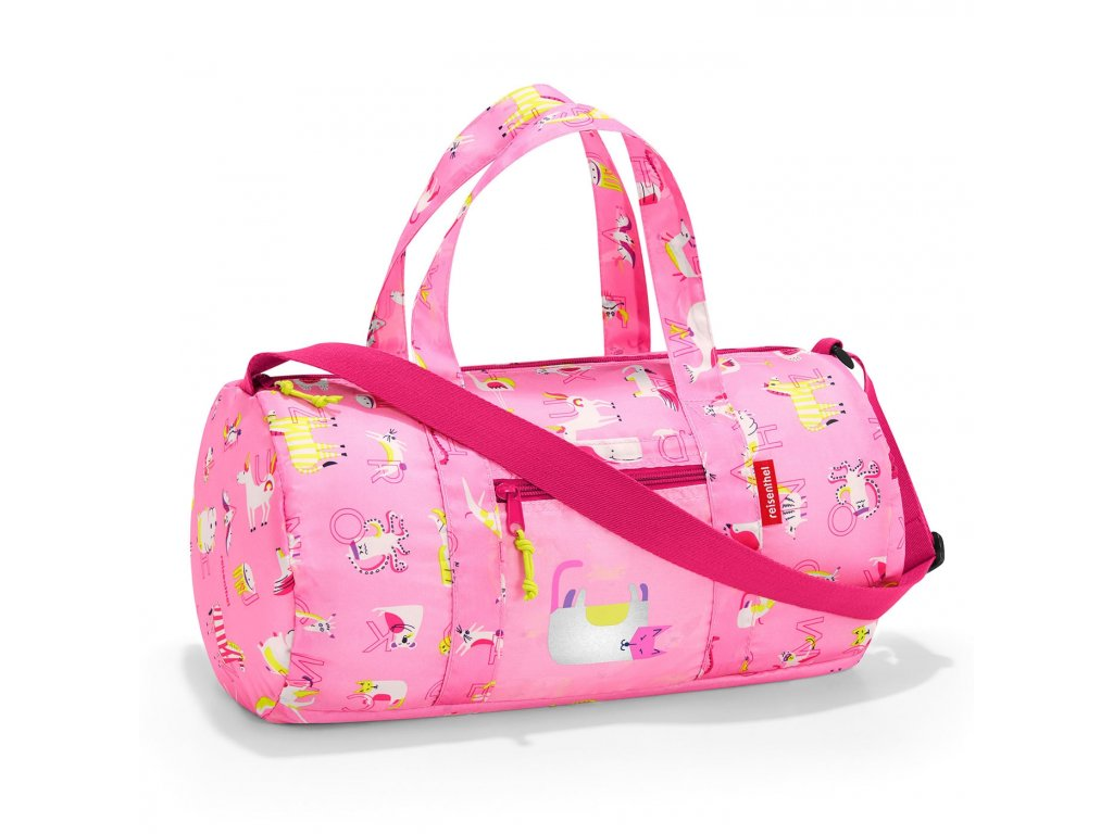 192305 reisenthel mini maxi dufflebag kids abc friends pink