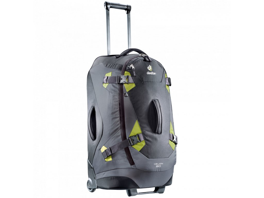 Deuter Helion 80 černá/zelená - cestovní taška na kolečkách  + Pouzdro zdarma