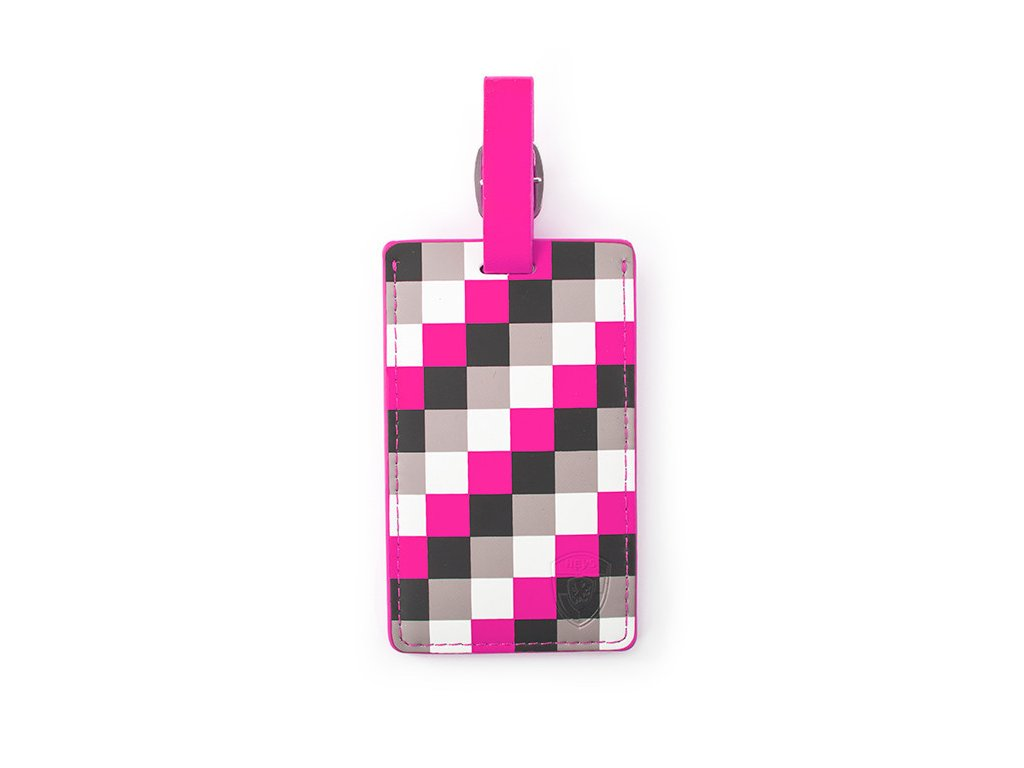 Heys_Luggage_Tag_Pink_Check