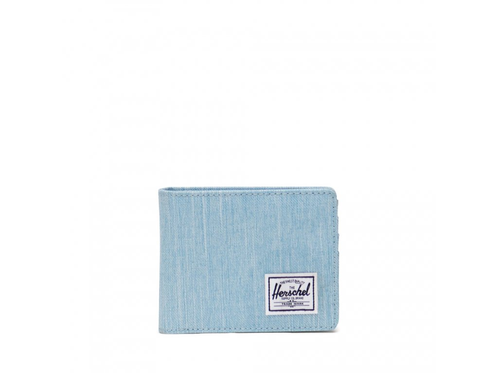 Herschel Roy Coin RFID Light Denim Crosshatch