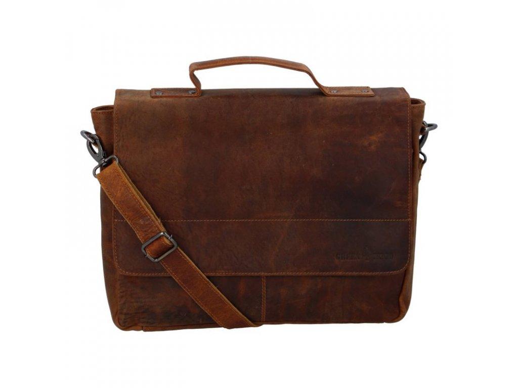 Green Wood Luxusní pánská kožená taška José khaki  + Pouzdro zdarma