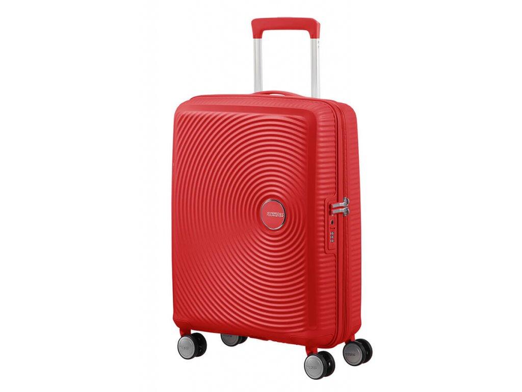 American Tourister SOUNDBOX S 55/20 TSA EXP - CORAL RED  + Pouzdro zdarma