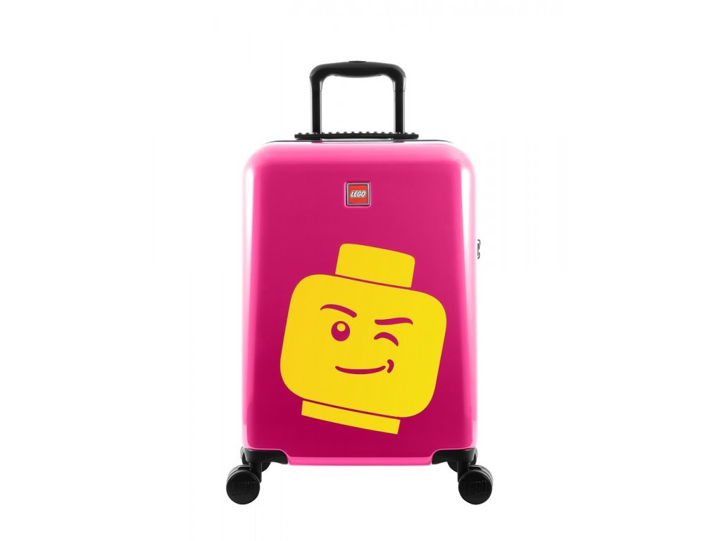 "LEGO Luggage ColourBox Minifigure Head S 20"" - Berry  + Pouzdro zdarma"