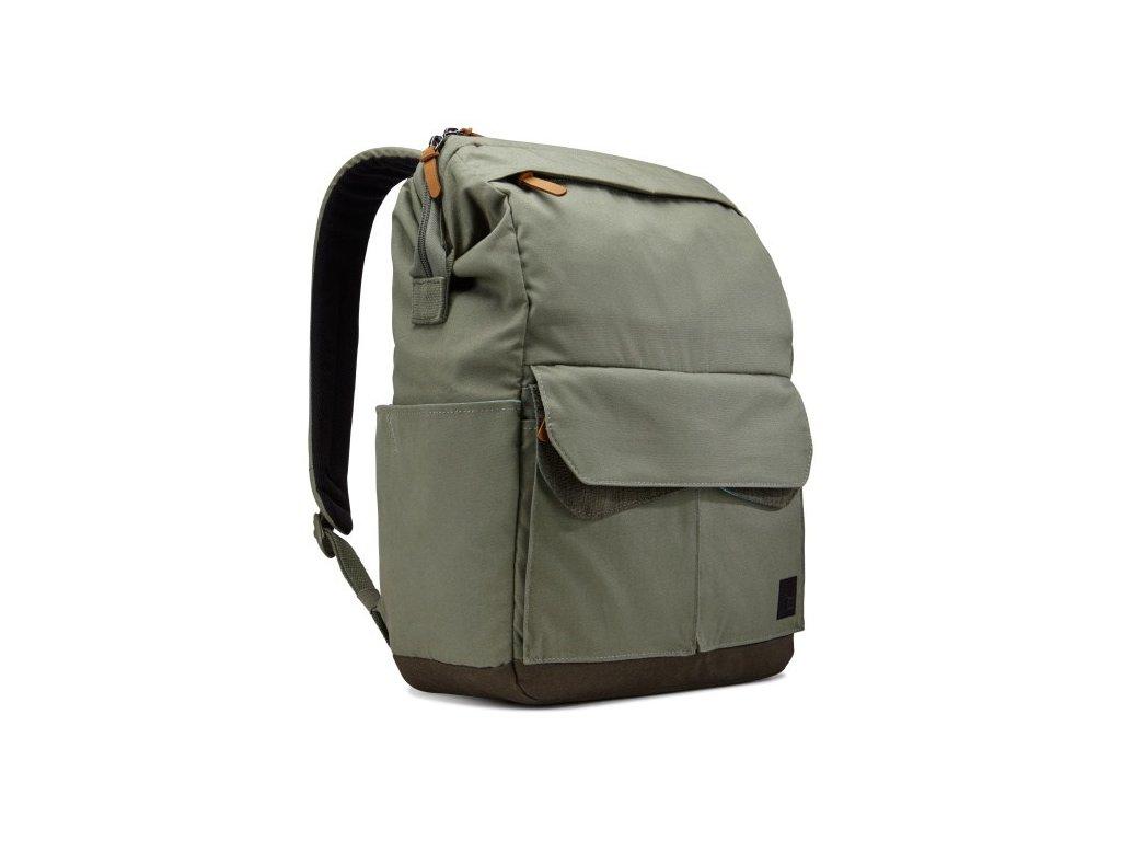 """Case Logic LoDo batoh na notebook 14"""" LODP114PTG - zelený  + Pouzdro zdarma"""